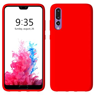 San Francisco 2a44c 2fd7a Aucaeo Huawei P20 Pro Case, Huawei P20 Pro Cover, Liquid Silicone  Protective Case Wireless Charging Compatible Microfiber Lining Shockproof  Thin Slim ...