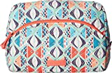 Vera Bradley Iconic Large Cosmetic, Signature Cotton, Go Fish,One size