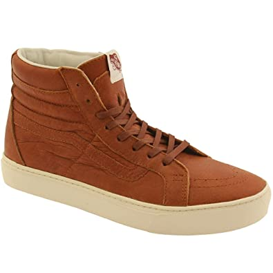 28fb99bdfe Vans SK8 Hi Cup CA Leather Henna Turtledove Men s Skate Shoes Size 8.5