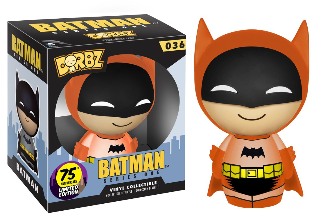 Orange Batman 75th Colorways Action Figure Funko Dorbz