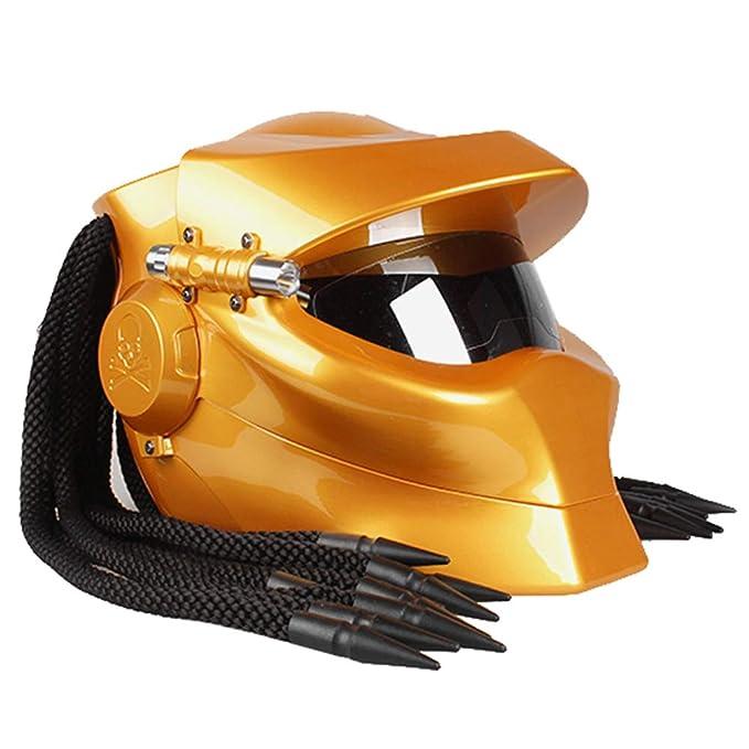 Casco de Moto Predator Cool, Guerrero en Forma de Casco Integral ...