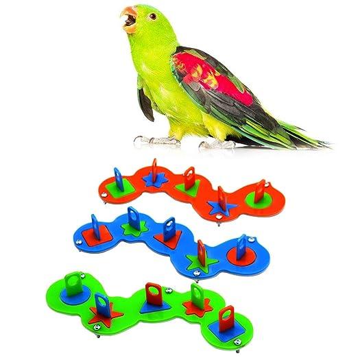 Parrot Intelligence Juguete de entrenamiento, jaula de pájaros ...