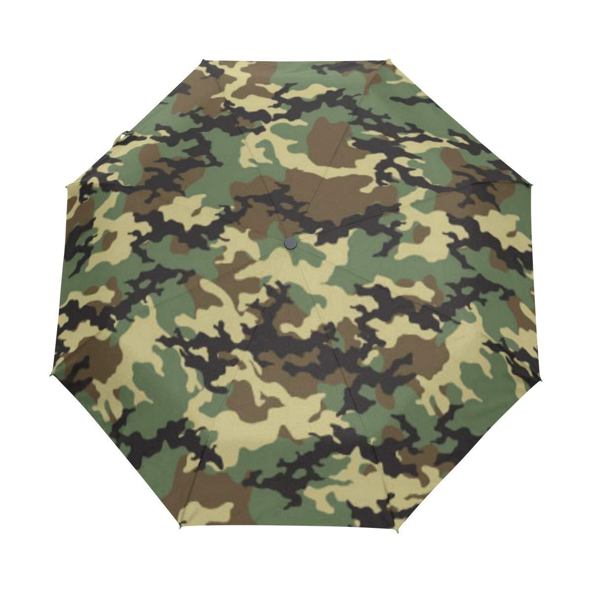 XLING 自動傘 カラフル カモフラージュ 迷彩 滑り止め 防風 コンパクト 雨傘 男女兼用 男の子 子供用   B07KVK6D8L