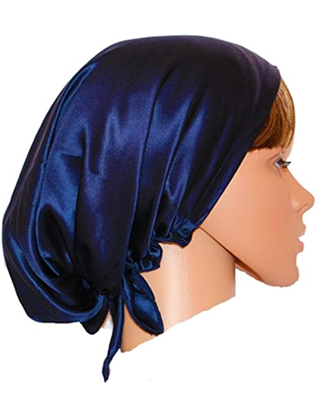 97974c6f9a5 Ayiyoy 100% Pure Silk Night Sleep Cap Sleeping Beanie Hat Cap at Amazon  Women s Clothing store