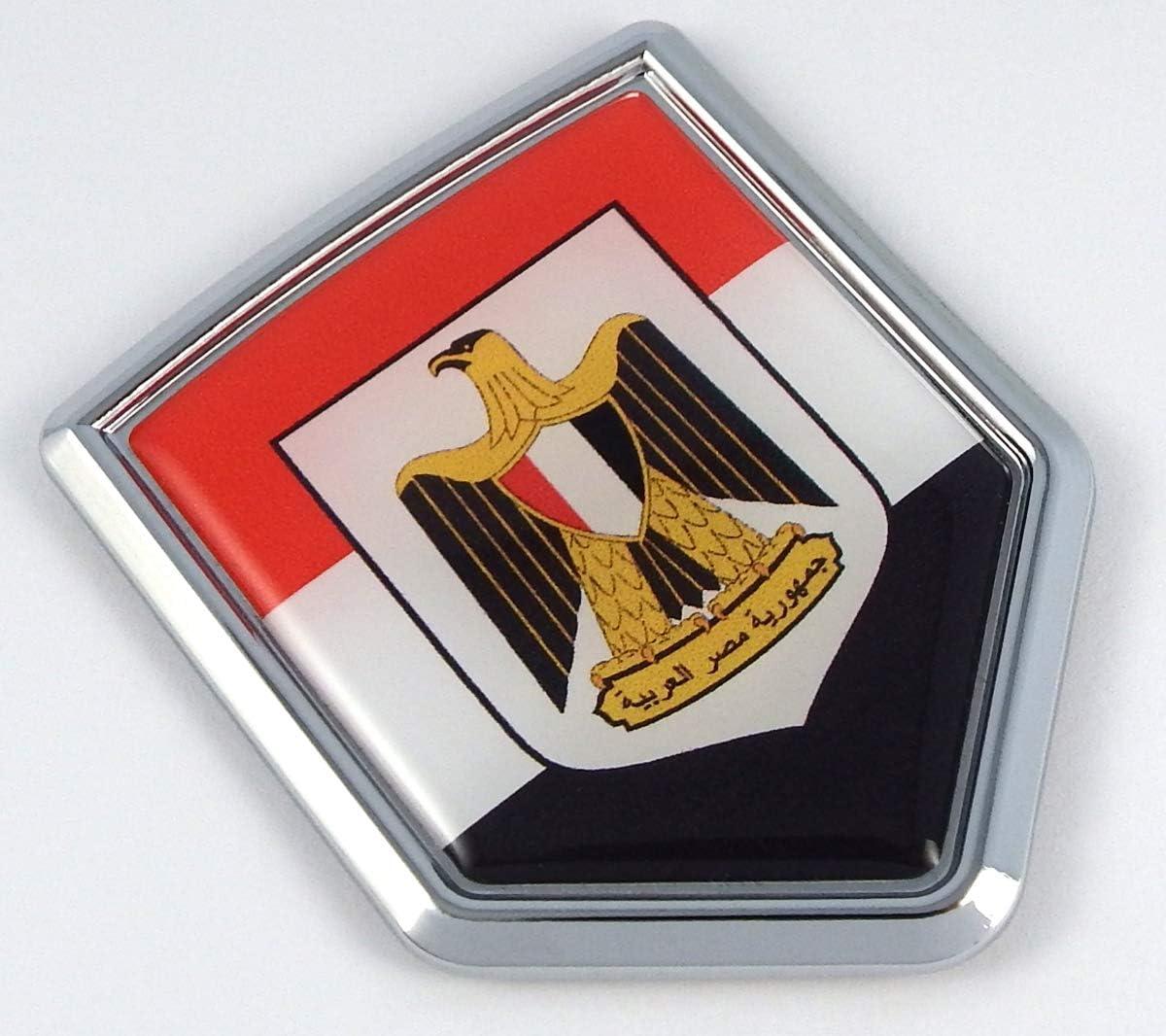 Sticker Egypt Resin Domed Stickers Egypt Flag 3D Vinyl Adhesive Decal Car