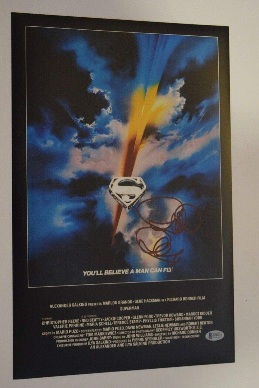 Richard Donner Signed Autograph Superman The Movie 11x17 Poster Beckett Bas Coa At Amazon S Entertainment Collectibles Store