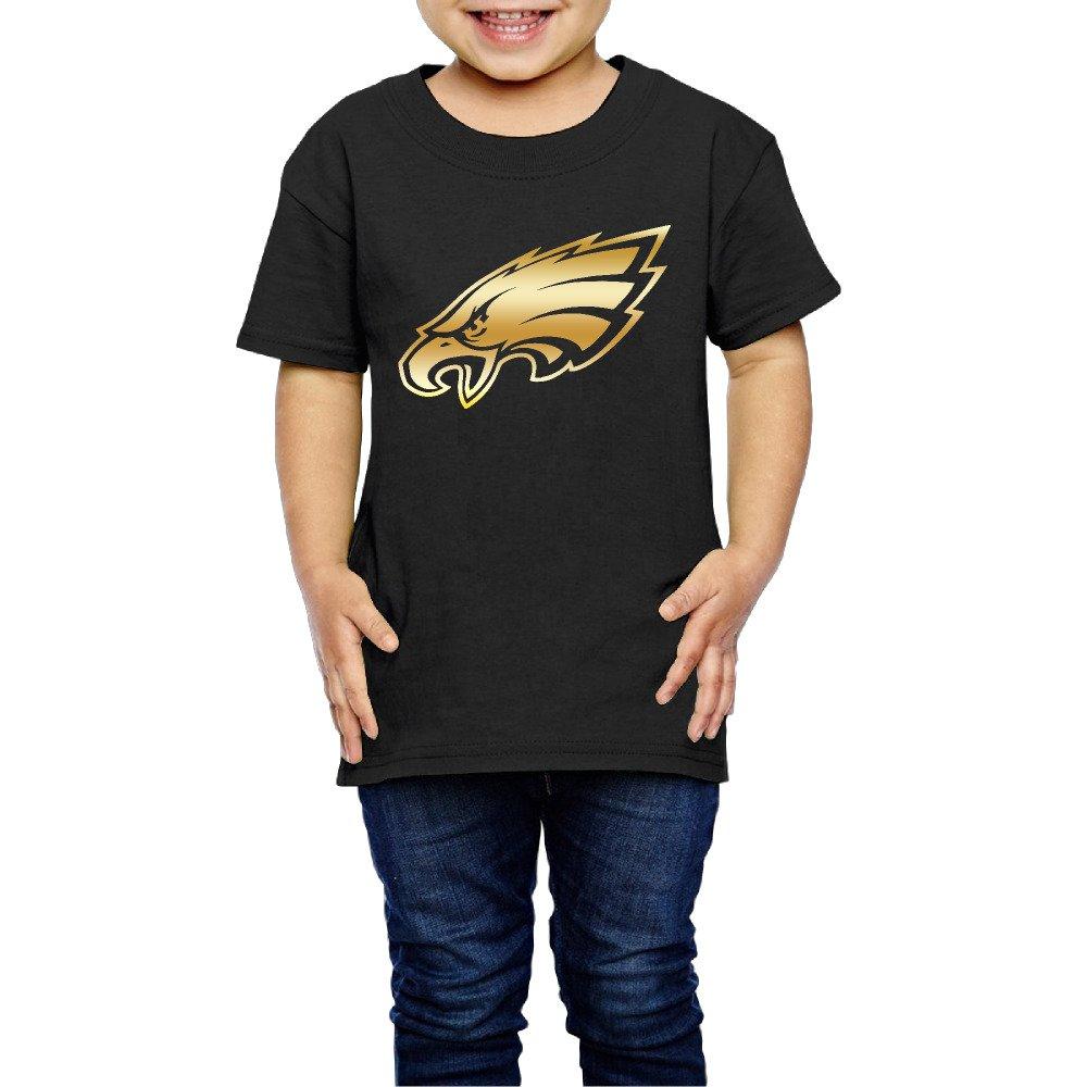 Little Girls' Philadelphia Eagles Gold Logo 2-6 Years Old Toddler T-Shirt Agongda T-shirts