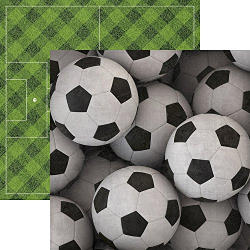 Soccer Scrapbook Page - Paper House Productions P-2053E Soccer Balls Soccer Double-Sided Cardstock, 12