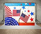 Kate Digital Printing Photography Backdrops 7x5ft USA Flag Background Wood Wall to Celebrate 4th of July Independence Day Photo Backdrop