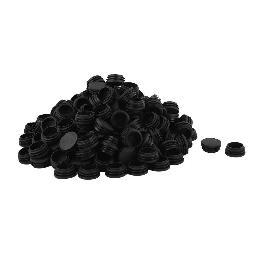 uxcell Plastic Home Office Round Shaped Table Chair Leg Tube Insert 38mm Dia 200pcs Black