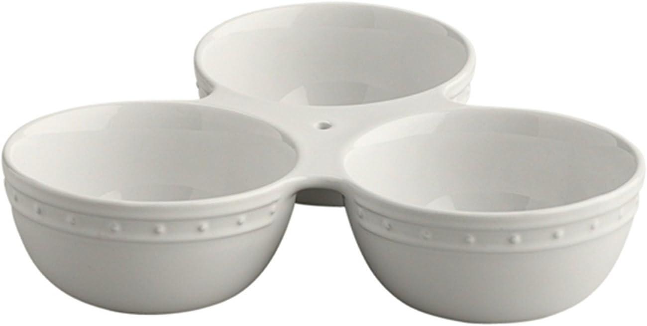 Nora Fleming Stoneware Triple Dish T6