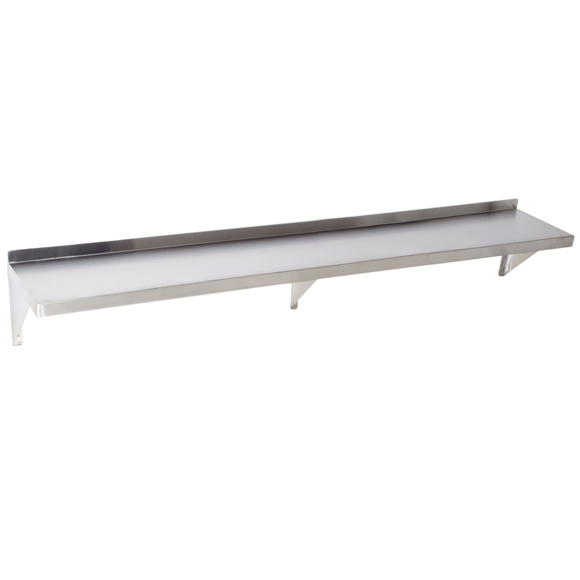 Foodservice Essentials WS-1272 Commercial Wall Mount Shelf, 12-Inch x 72-Inch, Stainless Steel