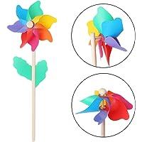 Molino de viento para niños juguetes palo