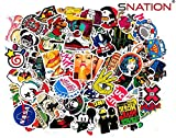Stickers [100pcs] Sticker Pack SNation Stickers Laptop Stickers skateboard stickers #Stickers #Laptop Stickers #BMX Stickers (StickerBomb)