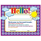 Welcome to Second Grade Certificates 50 Pack | Elementary School Classroom Supplies for Teachers | By Teacher Peach