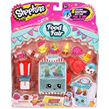 Shopkins Food Fair Candy Collection Play Set with 8 Exclusive Shopkins