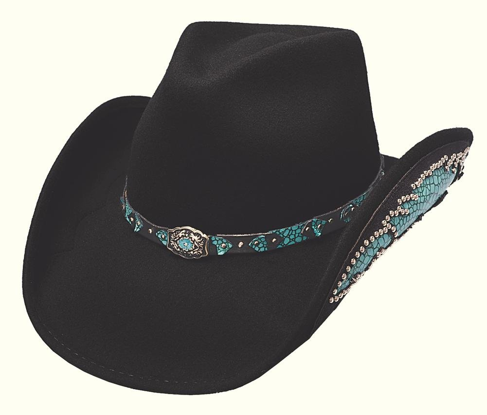 Montecarlo / Bullhide Hats - Natural Beauty - Wool Felt Western Cowboy Hat -Black (Small, Black)