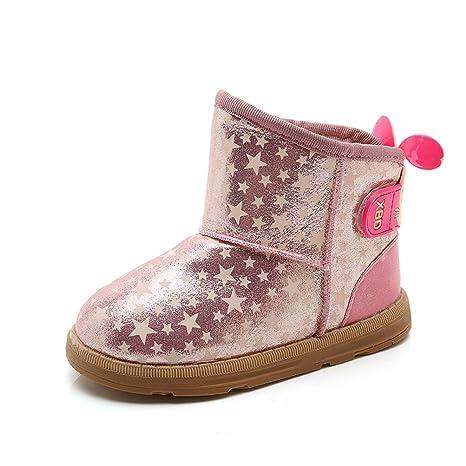 Stillshine Botas de Nieve para Niños Botas de Bebé para Niñas Zapatos de Invierno de Felpa ...