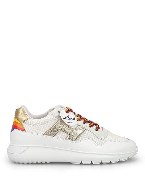 Hogan Mujer HXW3710AP24KKP4085 Blanco Cuero Zapatillas: Amazon.es: Zapatos y complementos