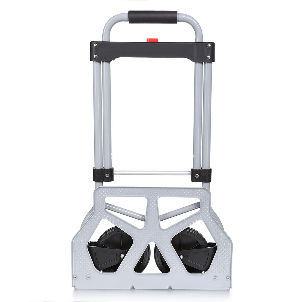 220lb Heavy Duty Folding Hand Truck & Dolly, Assisted Hand Truck Luggage Cart with 2 Wheels-Black by Korie (Image #4)