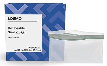 Amazon.com: solimo Snack bolsas de almacenamiento (300 ...