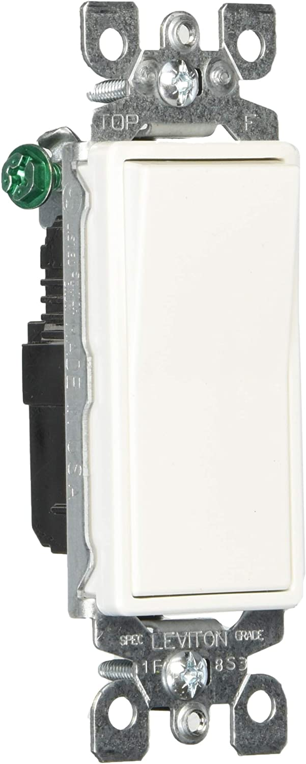 Details about  /Leviton Grounding Quiet Rocker Switch 15a 120 277V ac ca white
