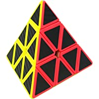 Speed Cube Pyraminx 3x3, LSMY Puzzle Magic Cubo Carbon Fiber Sticker Toy