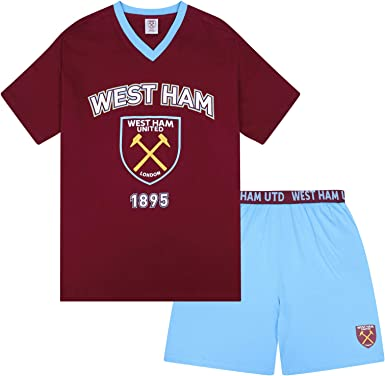 West Ham United FC Official Football Gift Boys Short Pyjamas