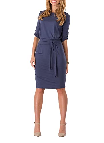 Aimur Women's Professional Dress Knee Length Pencil Frock Comfortable Clothing
