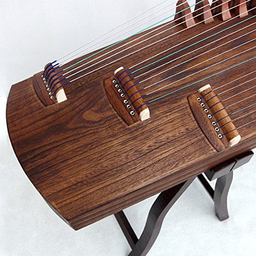 OrientalMusicSanctuary Professional ALL-Paulownia Travel Guzheng - Tang Dynasty Design - Travel Sized Guzheng - INCLUDES ENGLISH TUTORIAL BOOK WITH DVD
