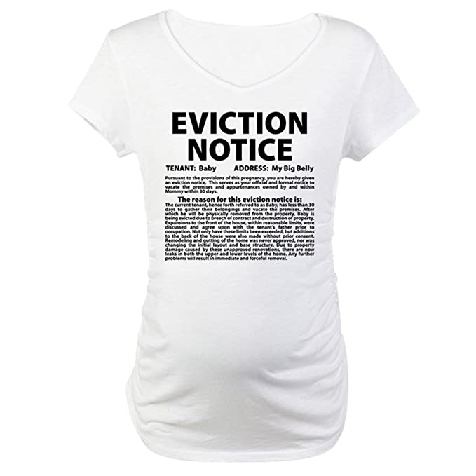 56ffbb6f5098b CafePress Baby Eviction Maternity T-Shirt Cotton Maternity T-shirt, Cute &  Funny