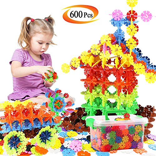 Building Block Toys, 600 Pieces Interlocking Plastic Disc Set, A Creative and Educational Construction Toy - Best Gift for Boys and Girls -