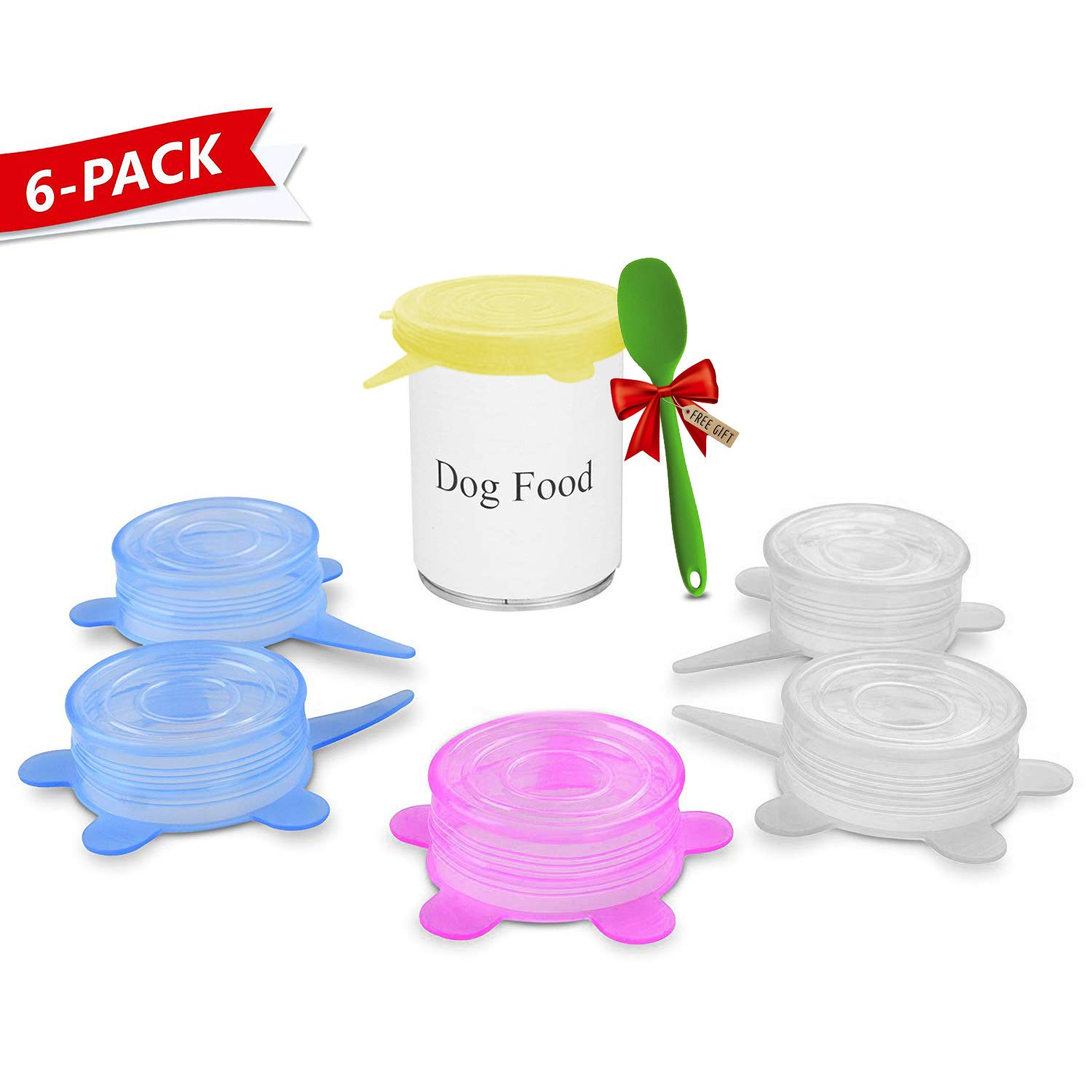 Trgowaul Can Covers/Universal Silicone Can Lids for Pet Food Cans/Fits Most Standard Size Dog and Cat Can Tops/100% FDA Certified Food Grade Silicone & BPA Free