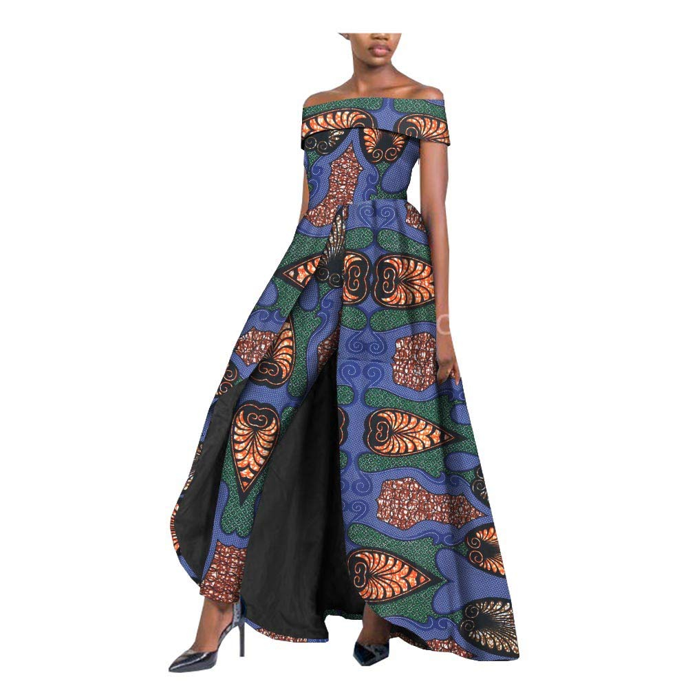 414 private afripride African Dresses for Women Long Splits Dress+Long Ankara Pants TwoPiece Suits for Lady Dashiki Plus Size