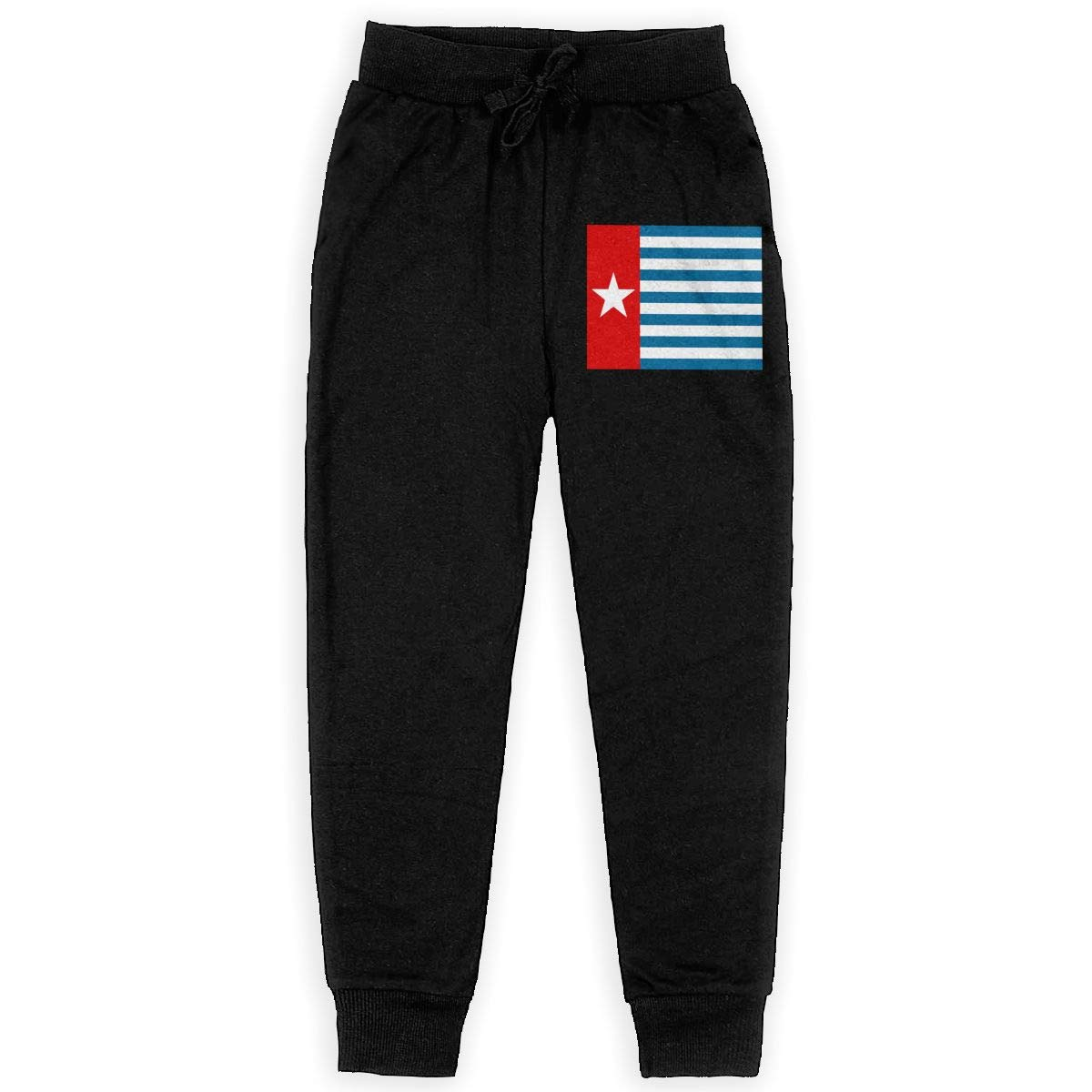Youth Sweatpants West Papua National Flag Teen's Jogger Pants Kids' Leggings Black