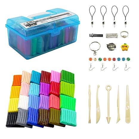 Kit de arcilla polimérica de 24 colores para manualidades, suave ...