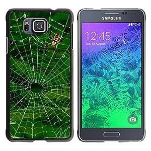 TopCaseStore / la caja del caucho duro de la cubierta de protección de la piel - Nature Spider Web - Samsung GALAXY ALPHA G850