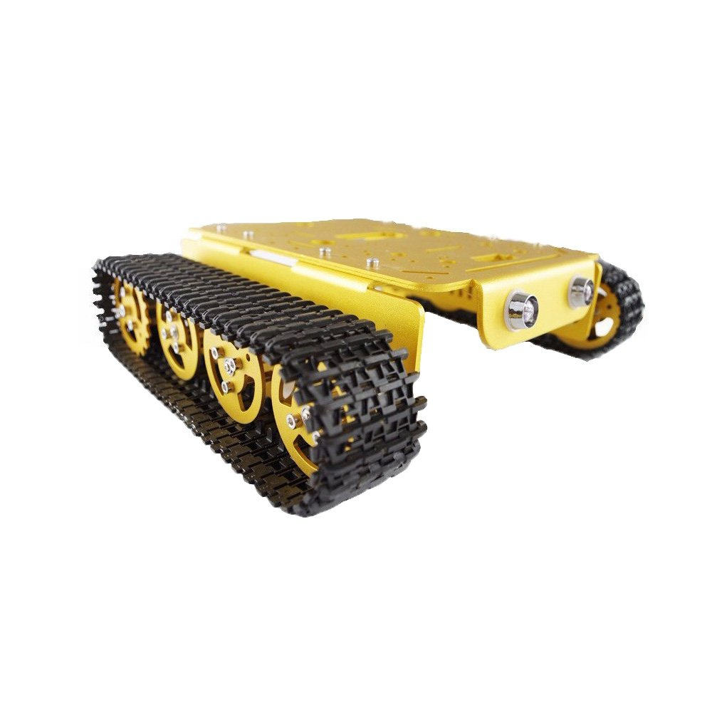 RC Metal Tank Chassis Robot Crawler Tracked Caterpillar Track Chain Car Vehicle Mobile Platform Tractor Toy for DIY Robot Project