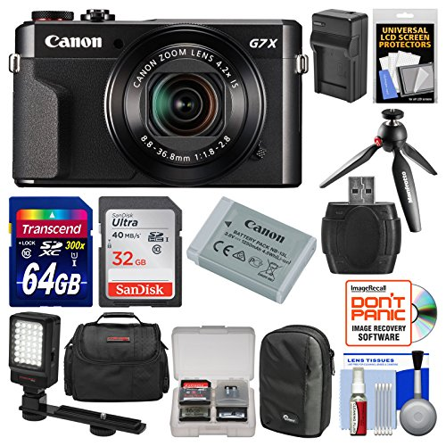 Canon PowerShot G7 X Mark II Wi-Fi Digital Camera Video Crea