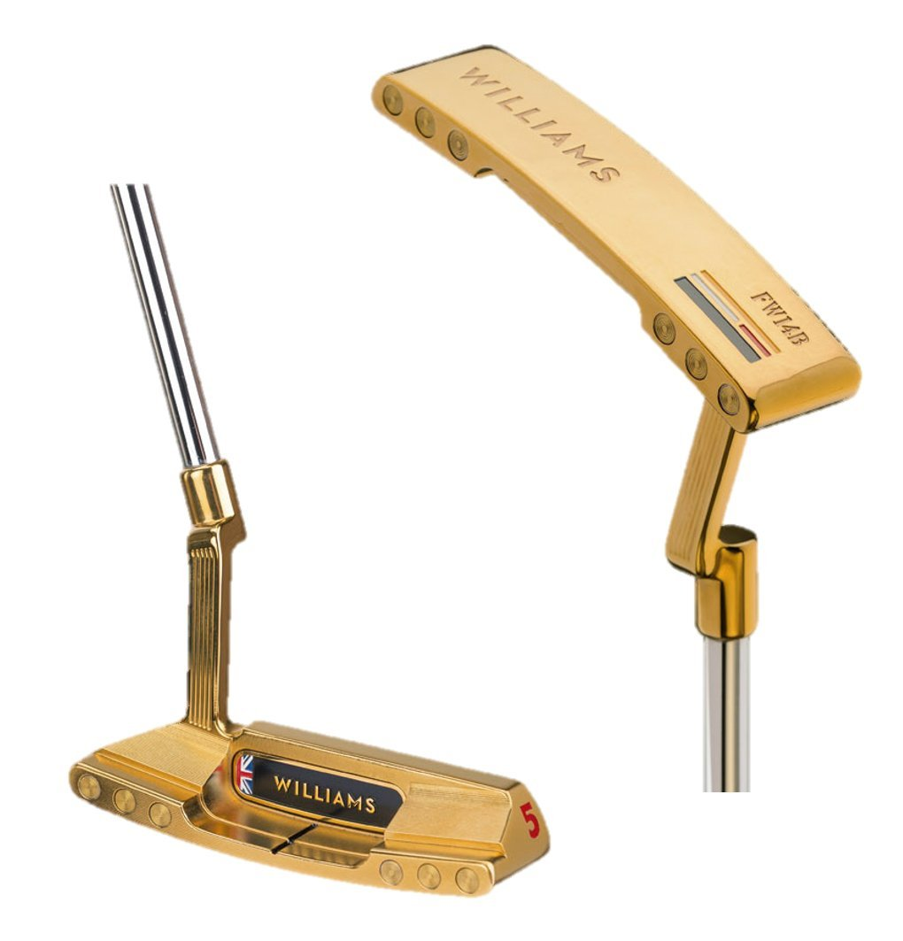 Putter Williams F1 Racing Golf FW14B Edition 24K Gold No 5 ...