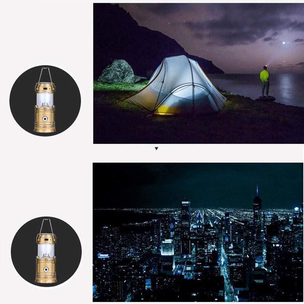 YGRSJ Solar LED Camping Licht Wandern Camping Notf/älle Bright Lightweight Water Resistant Multifunktions-Lithium-Batterie Solar-Lade-Teleskop-Notfall Geeignet f/ür