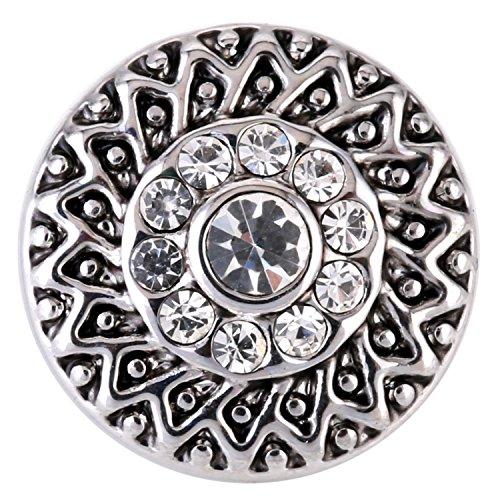 Morella ® pour petit click-button ø 12 mm ornament blanc