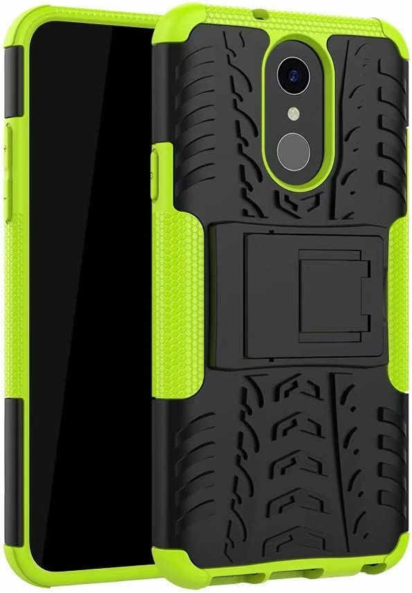 Noir FaLiAng /Étui LG Q7 2en1 Armure Combinaison Antichoc Heavy Duty Bouclier Shield Coque Rigide Housse pour LG Q7