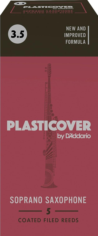 Rico Plasticover Soprano Sax Reeds, Strength 4.0, 5-pack D'Addario &Co. Inc RRP05SSX400