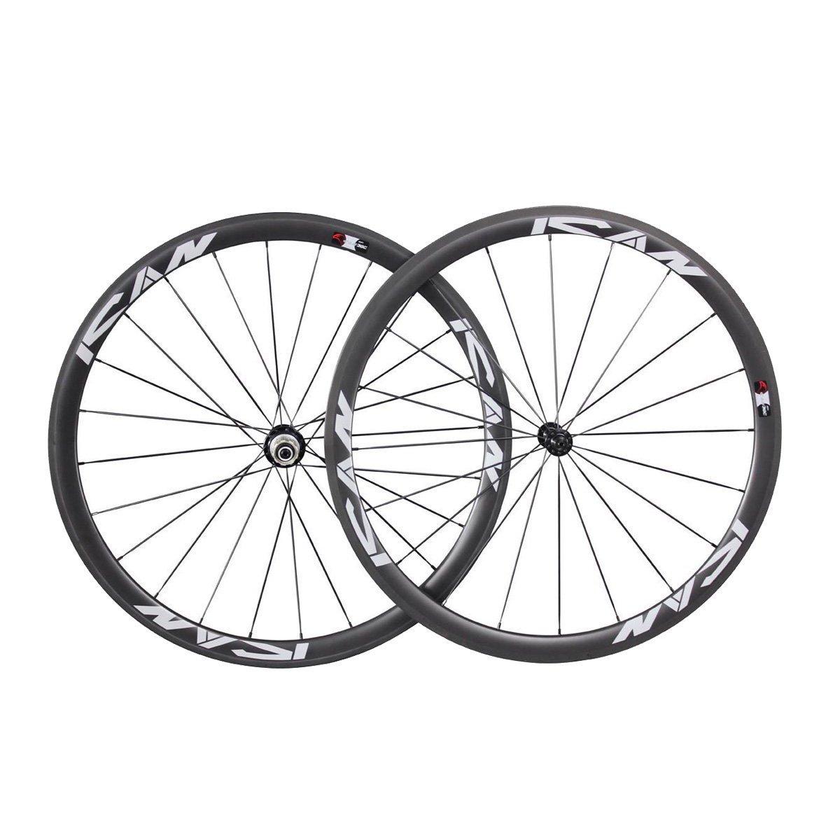 ICAN Carbon 38mm Tubular Wheelset Road Bike Only 1330g/set