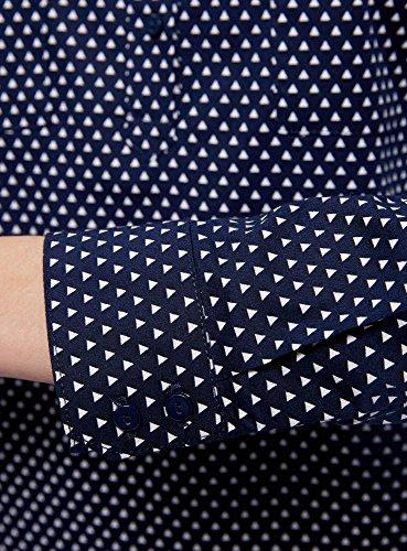 Femme de oodji avec Ultra Poitrine Chemise Basique 7912g Bleu Poches YY5vqrA