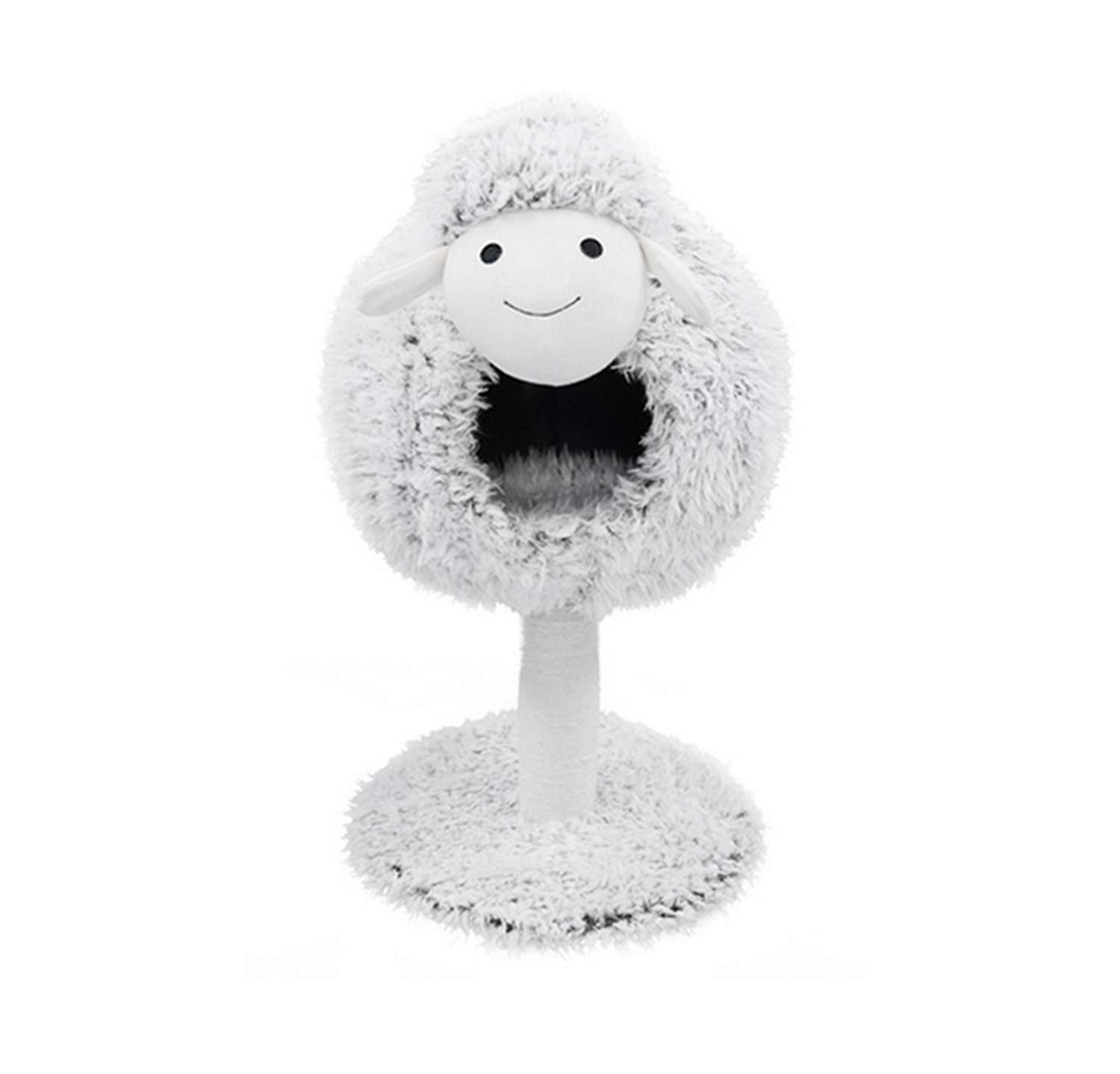 UNIQUE-F Cat Furniture Cat Tree Cat Tower And Sisal Grab Hammock Sheep Style Cat Bed Platform Plush Comfort