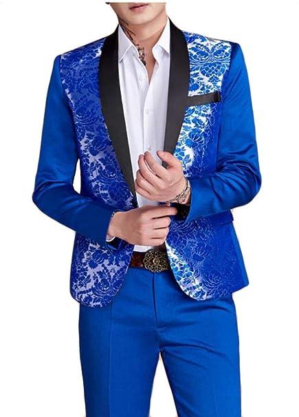Chaqueta De Los Hombres Elegante Slim Blazer Elegante Modernas Casual Fit  Esmoquin Chaqueta De Traje De Los Hombres De Manga Larga Blazer Chaqueta De  Traje ... ece642fd33fa