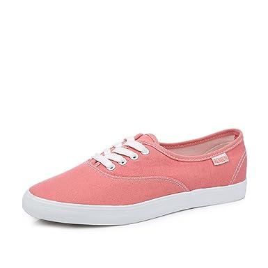 af950459bd29ae Renben Womens Canvas Low Cut Sneaker Platform Lace Up Casual Solid Color  Shoes