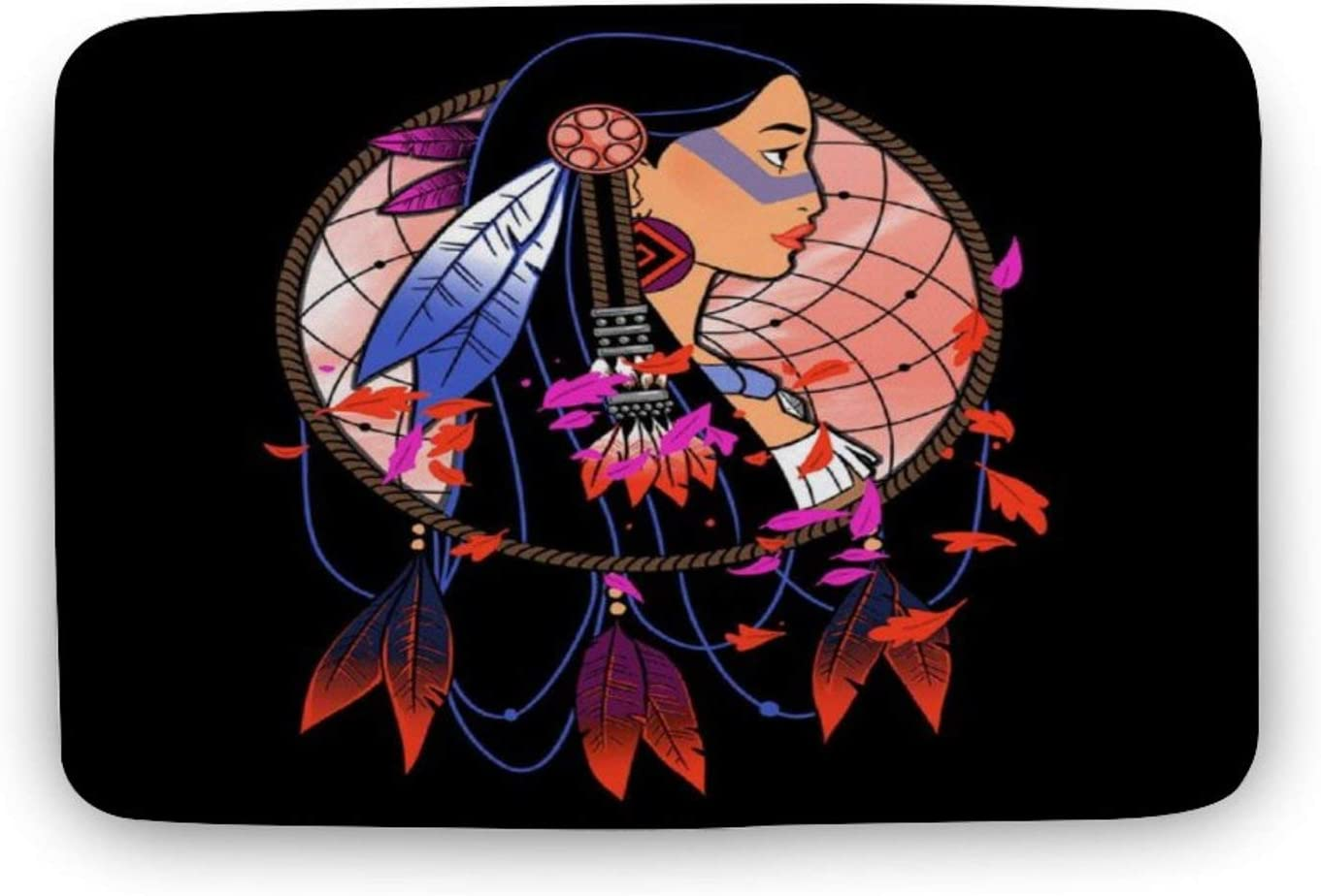 Pocahontas Colours of The Wind Personalized Entrance Door mat, Bathroom Non-Slip Absorbent mat, Kitchen Decoration Area mat
